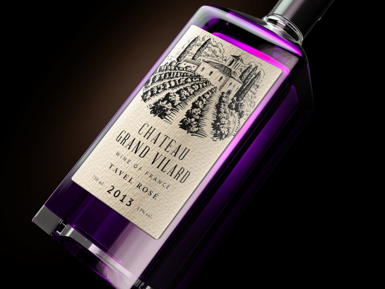 Premium Liquor Bottle Label Mockup