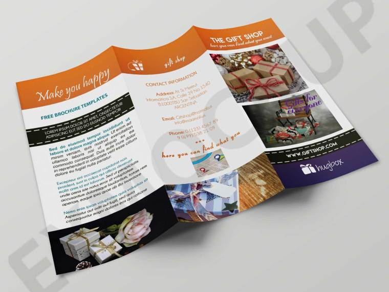 Gift Shop Tri-Fold Brochure Template
