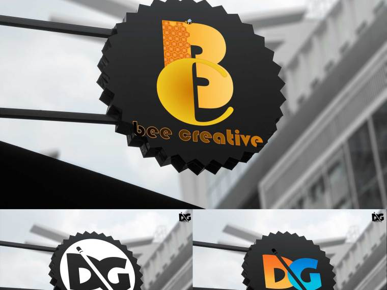 Circle Signs Logo Mockups PSD