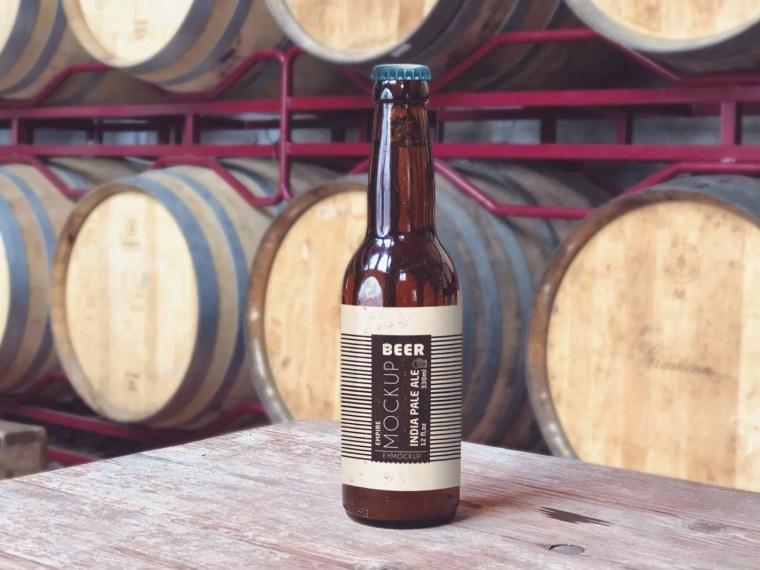 Beer House Bottle Label Mockup