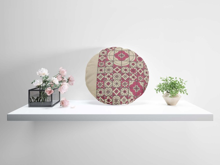 Round Pillow Design Mockup