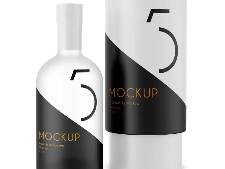PSD Bottle Packaging  Mockup