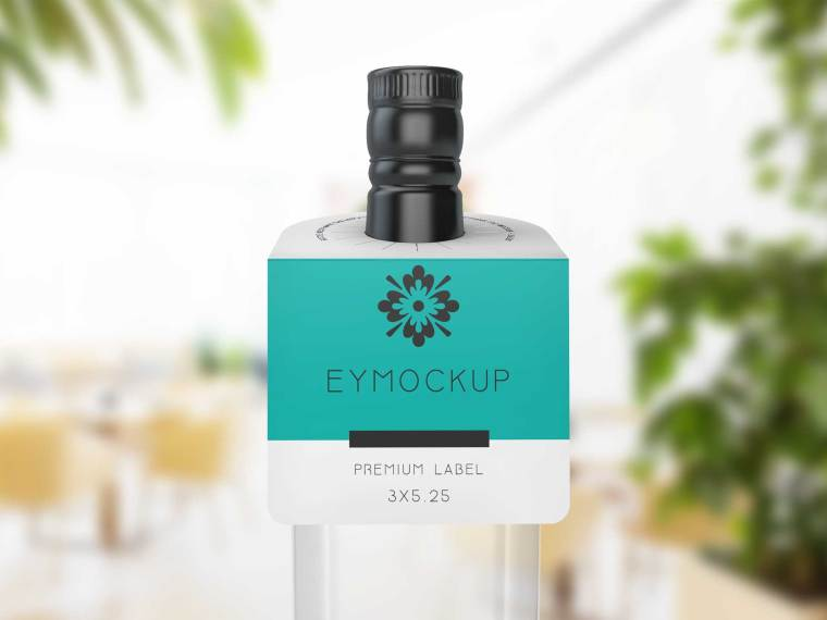 Prime Bottle Neck Label Mockup