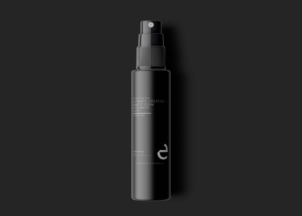 Mirror Spray Bottle Label Mockup