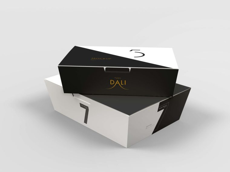 New Tapered Box Packaging Mockups