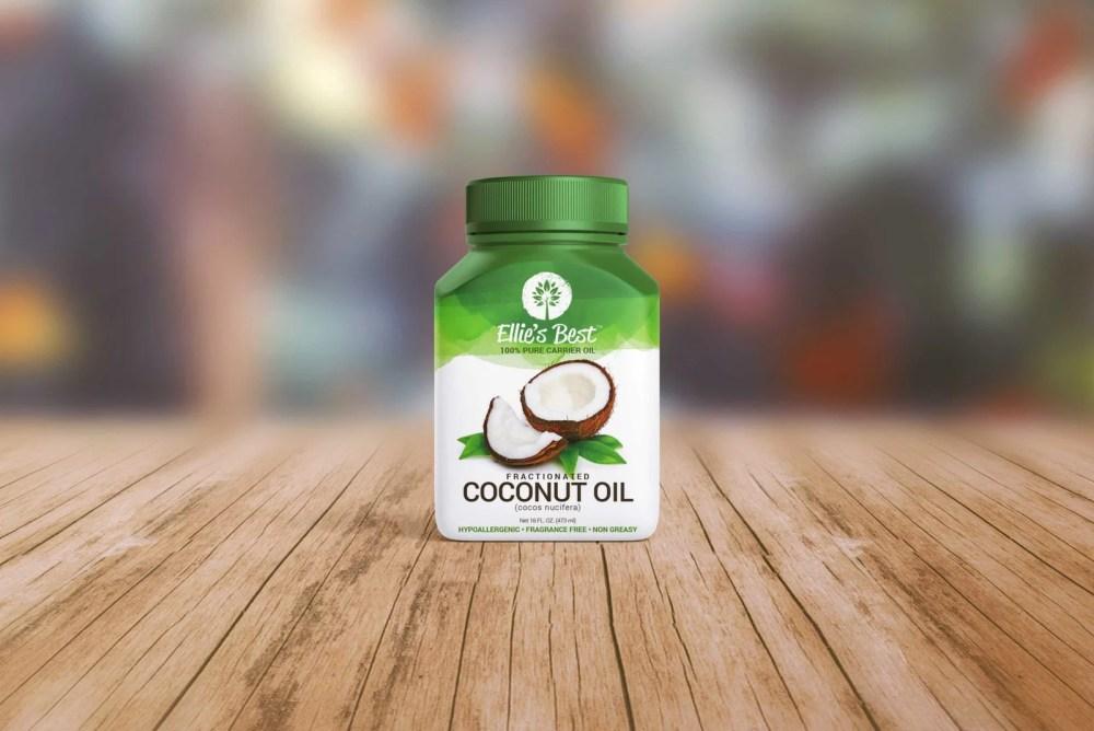 Coconut Oil Bottle Mockup