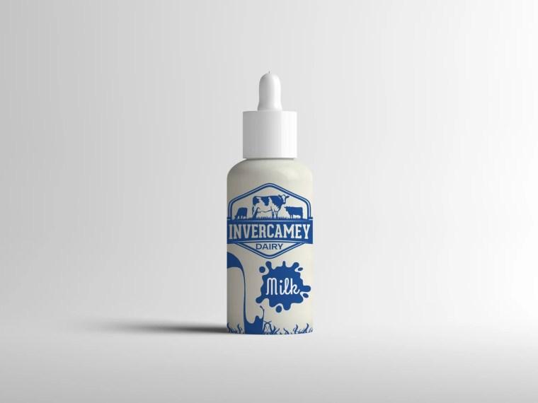Baby Milk Bottle Label Mockup