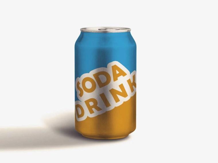 Beer Can Bottle Label Mockup