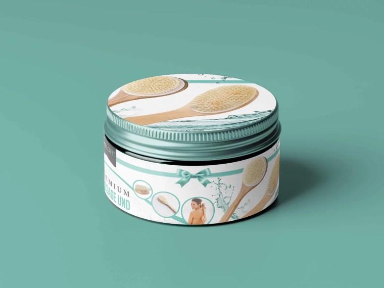 Cosmetic Oral Cream Label Mockup