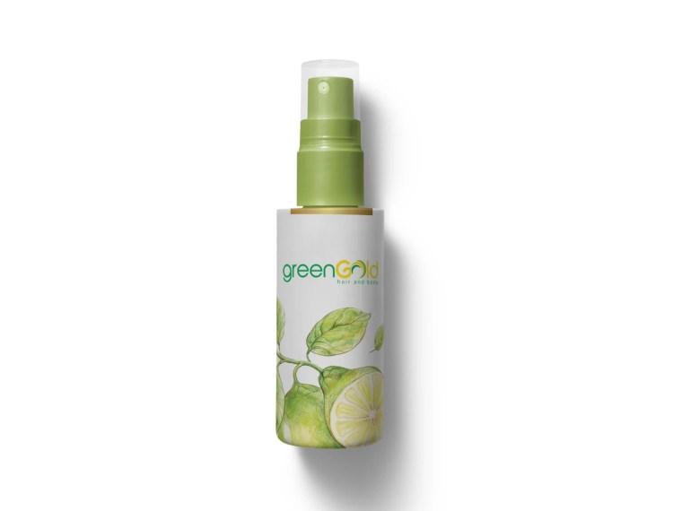 Fruit Hair Oil Spray Bottle Label Mockup