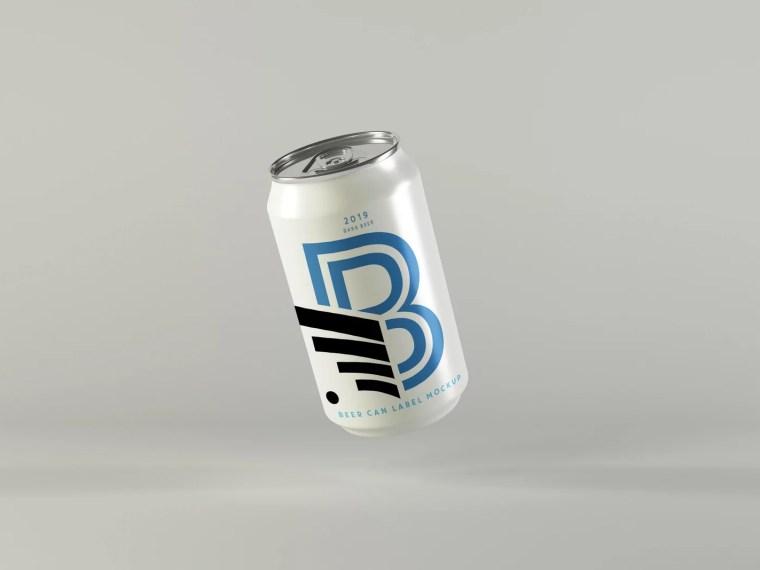 Premium New Beer Can Mockup