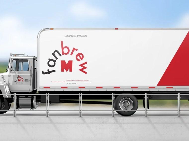 Truck Branding Wrap Mockup