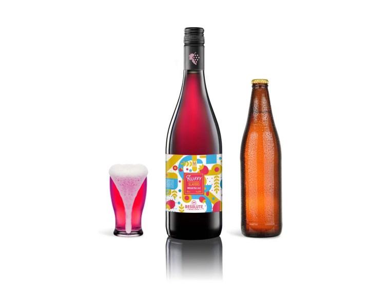 Branded Red Wine Bottle Label Mockup