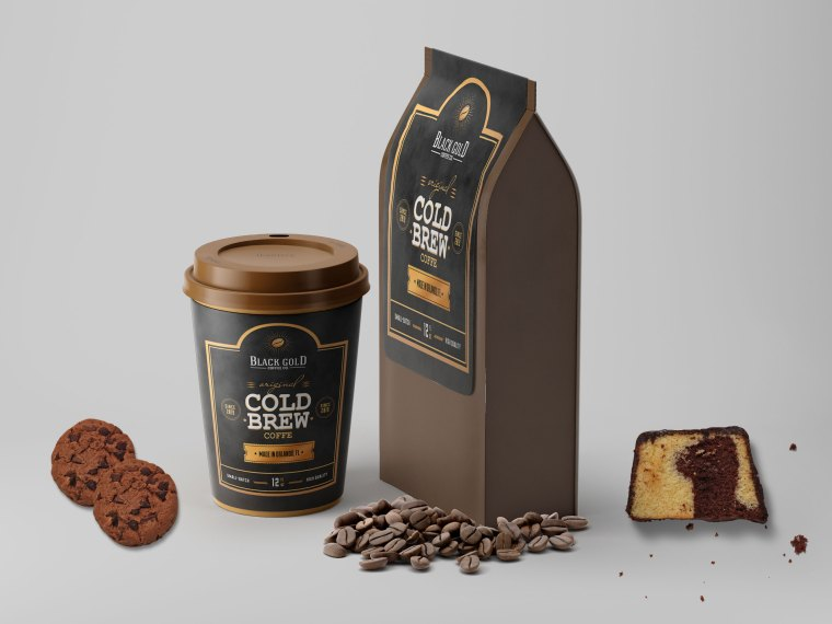 Coffee Packaging Label Mock-up