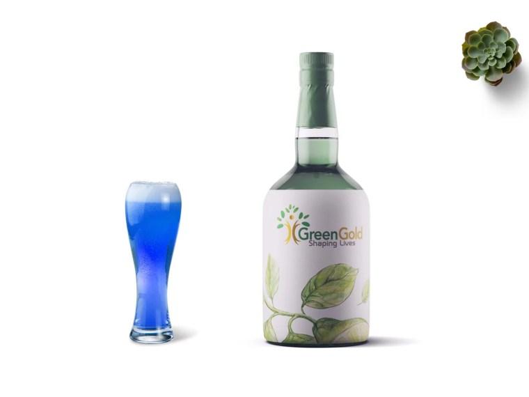 Premium Glass Bottle Label Mockup