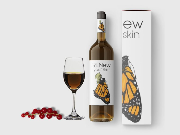 Alcohol Wine Bottle Glass Mockup