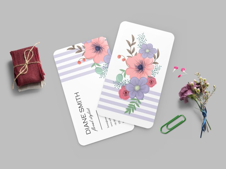 Beautiful New Business Card Design Mockup