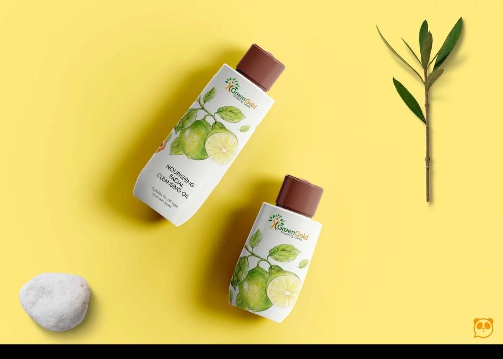 New Ceramic Bottle Label Mockup 2019