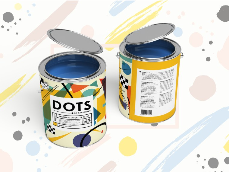 Steel Paint Can PSD Mockup