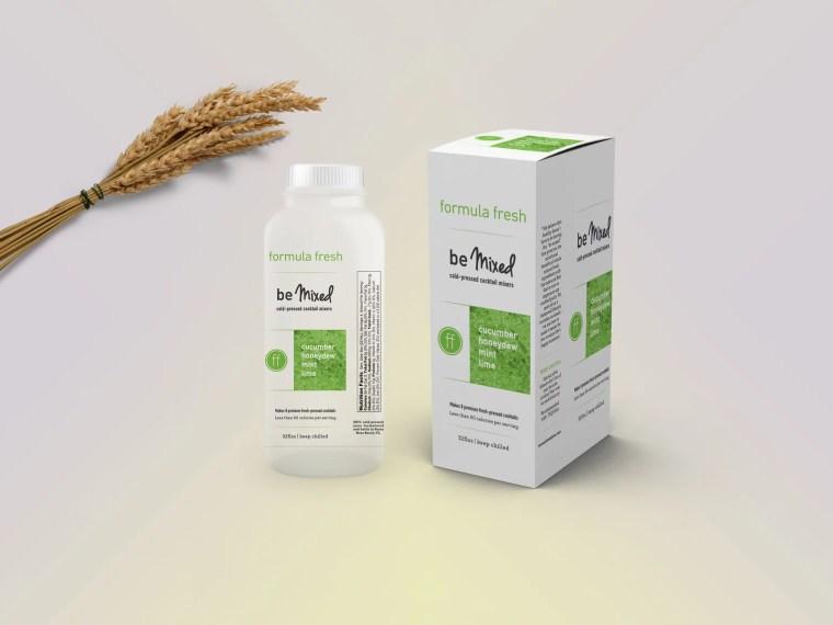 Transparent Milk Bottle Packaging Mockup