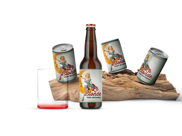 Beer Can Branding Presentation Mockup