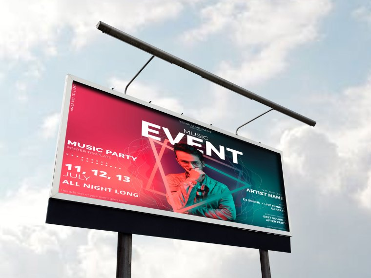 City Road Billboard Mockup