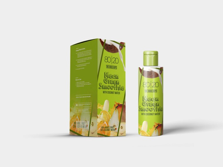 Hair Oil Packaging Label Mockup