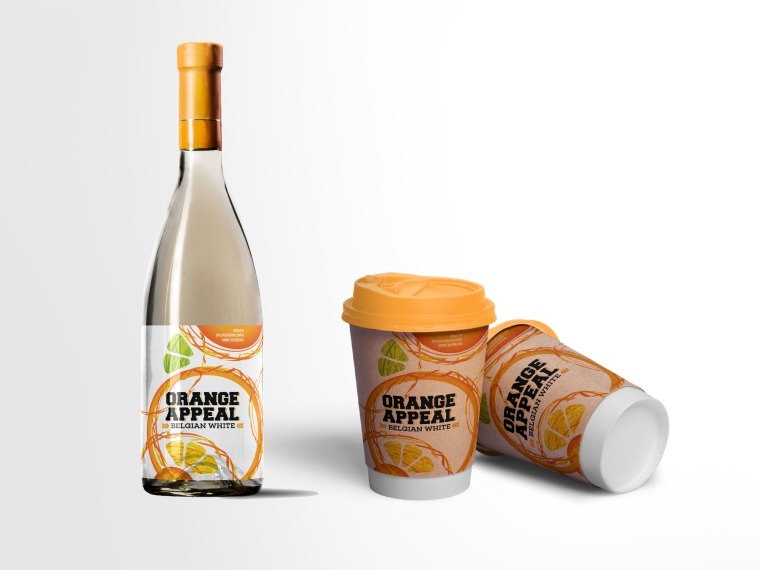 Pineapple Wine Bottle Label Mockup
