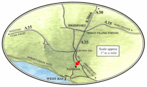 Map of Bridport and West Bay