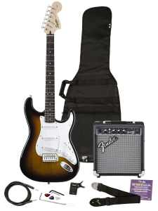 Squier 030-1600-032 SE Electric Guitar and Amplifier Starter Pack, Brown Sunburst