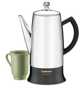 Cuisinart PRC-12 Classic 12-Cup Stainless-Steel Percolator, BlackStainless