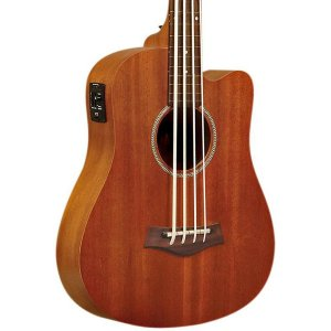 Gold Tone GT-Series M-BassFL 4-String Acoustic MicroBass Fretless for Electric Bass Guitar - Natural