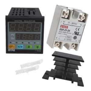 IMAGE® 25A SSR-25DA Solid State Relay with Heat Sink+ Manual Auto-tuning PID Temperature Controller SNR