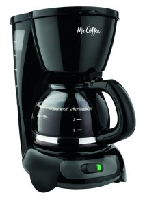 Mr. Coffee TF5GTF 4-Cup Switch Coffeemaker, Black with Gold Tone Filter