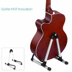 Neewer® NW-01 Universal Combined Aluminum Alloy A-Frame Guitar Stand for Acoustic, Electric, Bass Guitars, Ultimate Lightweight, Portable, Stable Musical Instrument Stand