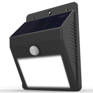Solar Lights, Lampat Garden Waterproof Wireless Security Bright Motion Sensor Light For Outdoor Wall yard deck Auto On Off -No Tools Required; Peel N Stick