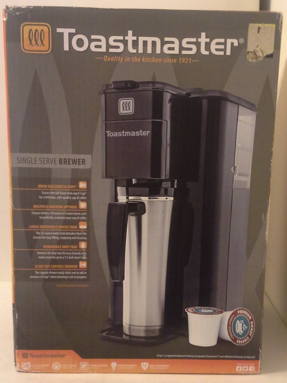 toastmaster kcup single serve brewer model tm100cm - K Cup Brewers