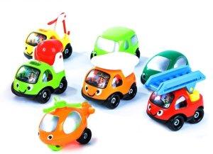 7 Mini Smiley Vehicles