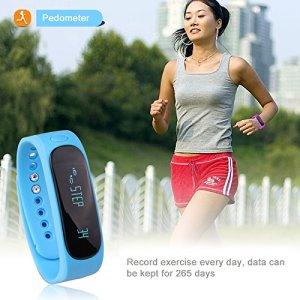 Fitness Tracker, Forestfish Bluetooth Sync Smart Bracelet Sports Fitness Tracker Smart Wristband Water Resistant Tracker Bracelet Sleep Monitoring Anti-lost Smart Watch
