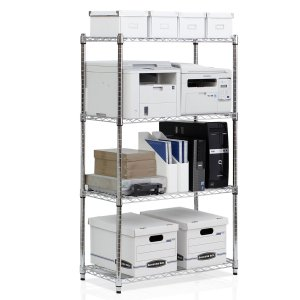 Furinno WS15003 Wayar Heavy Duty Wire Shelving System, 4-Tier