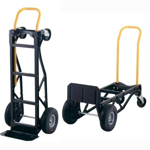 Harper Trucks 700 lb Capacity Nylon Convertible Hand Truck and Dolly with 10 Pneumatic Wheels