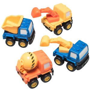 Prextex Pull Back and Go Construction Vehicle Stocking Stuffers and Toys for Boys