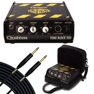 Quilter Labs Tone Block 200 Guitar Amp Head with Deluxe Case & 25 ft Mogami Gold Instrument Cable