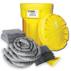 Stardust Spill Products 930U 30 Gallon Universal Spill Kit Includes 30 Gallon Bright Yellow Overpack Drum