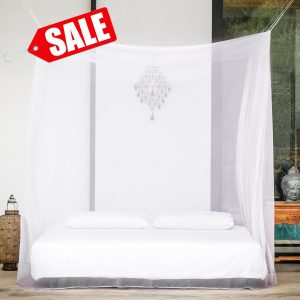 #1 Largest Rectangular Mosquito Net for Double Bed by EVEN Naturals® Screen Netting Curtains Insect Malaria Zika Repellent Money-back Guarantee Free Carry Pouch, Hanging Kit & eBook