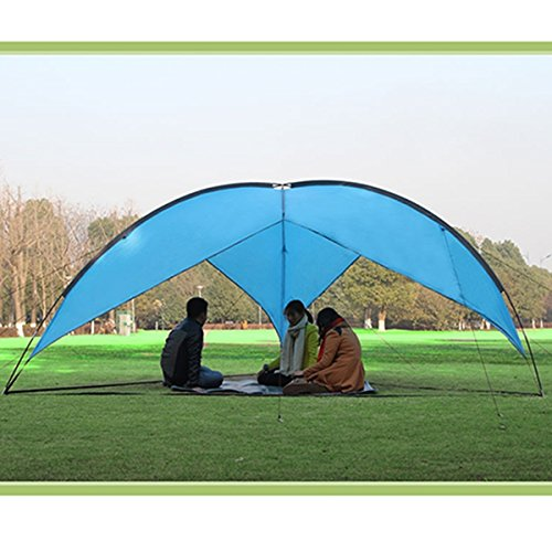 AGPtek Outdoor Sunshade Basec& Shelter Tripod Beach Shelter Canopy Fiberglass Poles Family Triangular Sun Shade C&ing & Top 10 best camping sun shelters