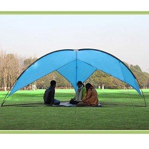 AGPtek Outdoor Sunshade Basecamp Shelter Tripod Beach Shelter Canopy Fiberglass Poles Family Triangular Sun Shade Camping