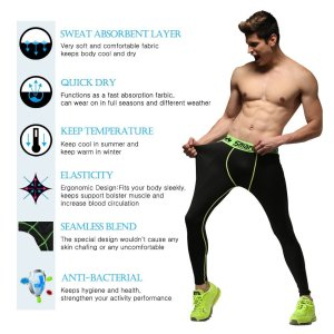 Top 10 best men's compression pants & tights for athletic