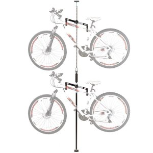 Double Vertical Bicycle Storage Hanger Rack for Garages or Apartments
