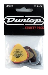 Dunlop PVP101 Pick Variety Pack, Assorted, LightMedium, 12Player's Pack